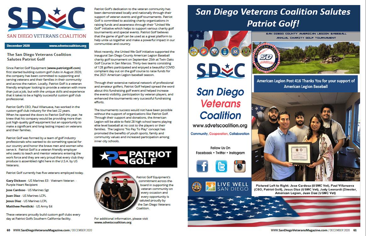Patriot Golf SDVC Article December 2020, SD Vet Magazine